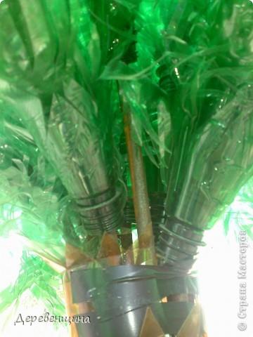 Начинаем делать пальму. Заготовим бутылки. Нужно срезать этикетки, страховочное кольцо от крышки. И обязательно вымыть их!!!  фото 17