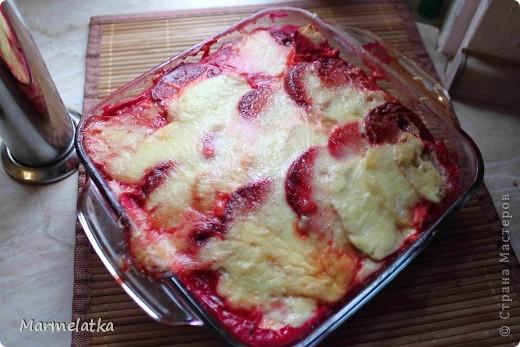 Лазанья из картофеля, свеклы и яблок фото 1