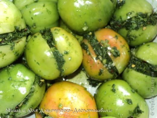 Зеленые помидоры по-грузински - пошаговый кулинарный рецепт