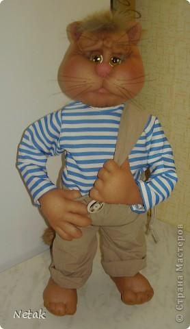Кот Котофеич.Захотелось попробовать сделать  мне котика как у настоящих мастеров- кукольников.А уж получилось или нет судить вам ... фото 1