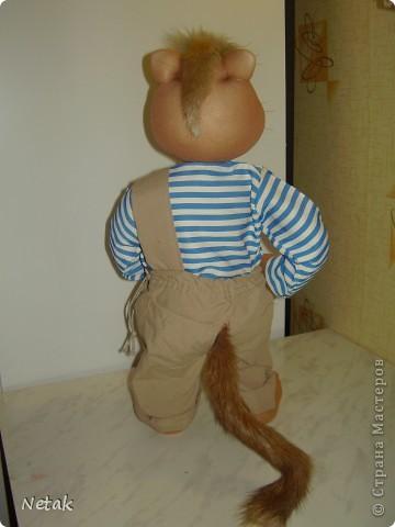 Кот Котофеич.Захотелось попробовать сделать  мне котика как у настоящих мастеров- кукольников.А уж получилось или нет судить вам ... фото 3