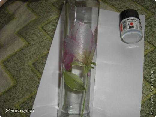 Вот наконец-то представился случай и я продекорировала обычную бутылочку и как обещала все зафотографировала. Вот какой получился МК. фото 5