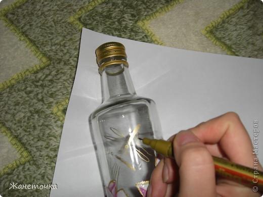 Вот наконец-то представился случай и я продекорировала обычную бутылочку и как обещала все зафотографировала. Вот какой получился МК. фото 11