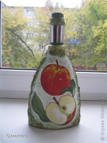 Принесли мне очень интересную бутылку, а старая разделочная доска   давно ждала своего часа... фото 5