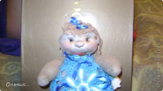 """Куколка сшита из капроновых колгот.Колготки с блеском, поэтому """"кожа"""" у моей куколки прямо сияет фото 1"""