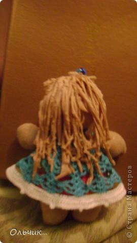 """Куколка сшита из капроновых колгот.Колготки с блеском, поэтому """"кожа"""" у моей куколки прямо сияет фото 3"""