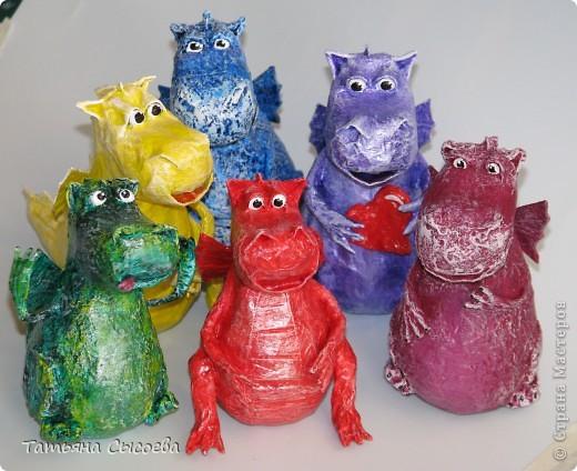 Сегодня расскажу, как сделать елочную игрушку из папье-маше на примере Дракончика. фото 38