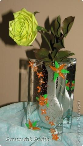 Всем доброго времени суток!!! Вот и я слепила свою первую розочку из самоварного ХФ! Спасибо кукушечке за неоценимую помощь в этом!!!!!!!  Свете за чудесный рецепт ХФ,а также Расмие за подробный МК по лепке розы(правда чашелистики я сделала по-другому и количество листочков на веточке увеличила)!!!!!!!!!!!!!!!!!! Жду ваших оценок и замечаний)))) фото 3