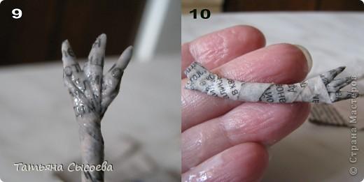 Сегодня расскажу, как сделать елочную игрушку из папье-маше на примере Дракончика. фото 20