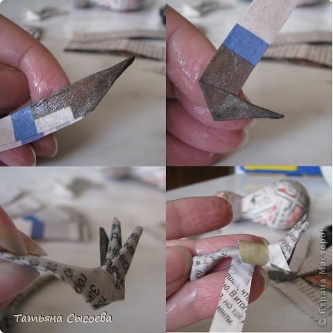 Сегодня расскажу, как сделать елочную игрушку из папье-маше на примере Дракончика. фото 21