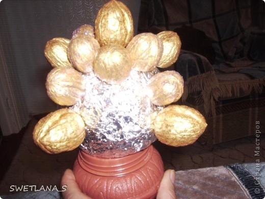 Очень красивенько смотрится, орешки золотые двух оттенков, посыпаны блёстками, блестят....... только на фотках засвечивается и не передаётся вся красота, жаль...  фото 11