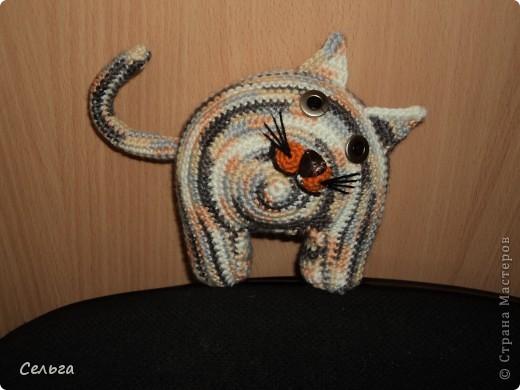 Кошечка-модница с ридикюлем(это отдельная игрушка-мышка, только хвостик в виде петли, чтобы надевался на лапку кошки). фото 4