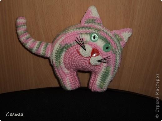 Кошечка-модница с ридикюлем(это отдельная игрушка-мышка, только хвостик в виде петли, чтобы надевался на лапку кошки). фото 5