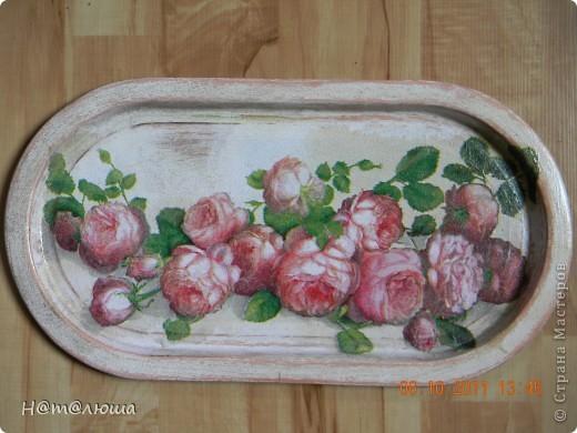 Могла ли я подумать еще месяц назад, что вот такая розово-гламурная прелесть поселится у меня на кухне!? Но благодаря Стране Мастеров, я стала по настоящему счастливым человеком ))), ведь это такое счастье выражать свои эмоции в творчестве (особенно, когда не умеешь рисовать, а душа просит). Короче говоря, в вашей палате декупажниц новая неизлечимо больная пациентка... фото 1