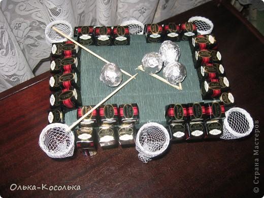 Муж у меня очень любит играть в бильярд - вот я и решила порадовать его таким сладким подарком на нашу очередную годовщину! фото 1