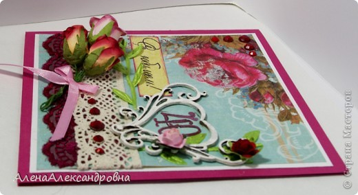 Открытка на рубиновую свадьбу скрапбукинг 96