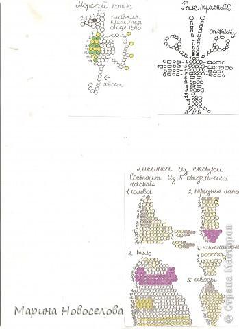 Хочу поделиться схемами плетения забавных фигурок. Подобные вещицы очень любят плести мои ученики фото 15