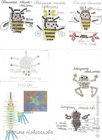 Хочу поделиться схемами плетения забавных фигурок. Подобные вещицы очень любят плести мои ученики фото 43