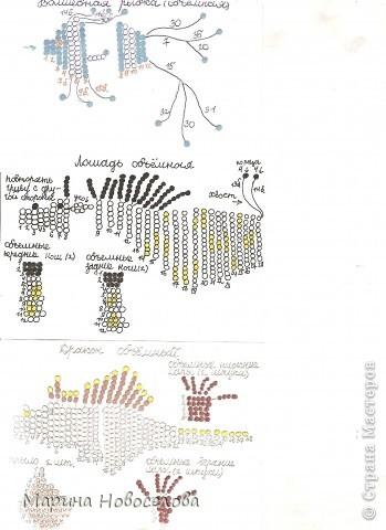 Хочу поделиться схемами плетения забавных фигурок. Подобные вещицы очень любят плести мои ученики фото 46