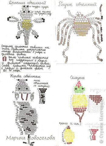 Хочу поделиться схемами плетения забавных фигурок. Подобные вещицы очень любят плести мои ученики фото 47