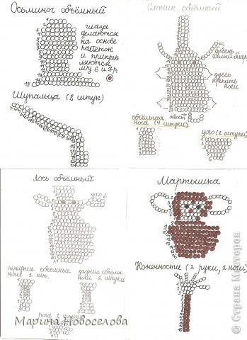 Хочу поделиться схемами плетения забавных фигурок. Подобные вещицы очень любят плести мои ученики фото 50