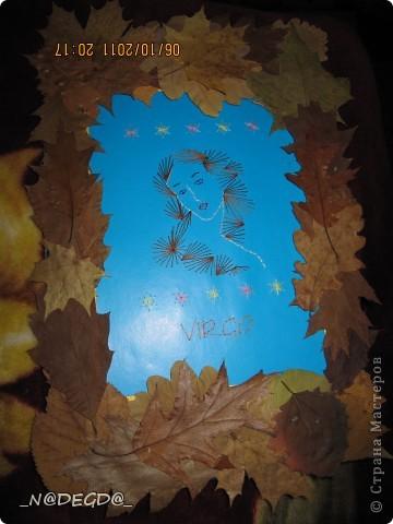 Нашла в интернете схему для девы и решила вышить свой знак, а так как дева припадает осенью сделала рамочку в осеннем стиле ))) фото 9
