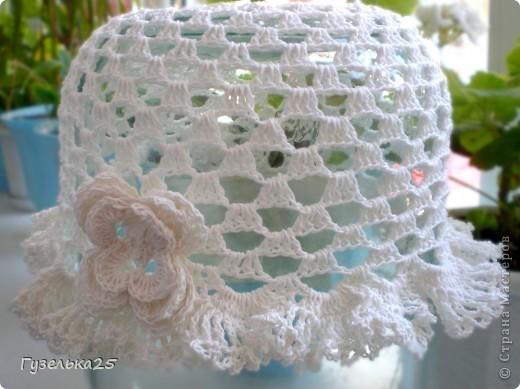шапочка с большим цветком фото 3