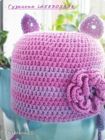 шапочка с большим цветком фото 6