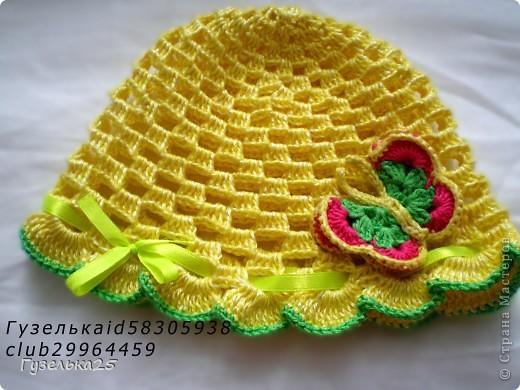 шапочка с большим цветком фото 2