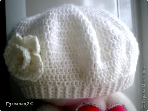 шапочка с большим цветком фото 9
