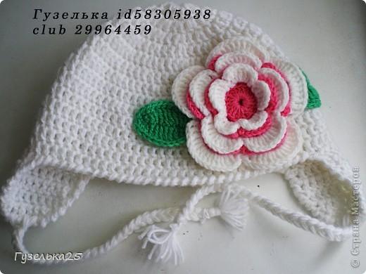 шапочка с большим цветком фото 1