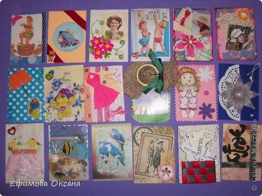 Вот такие необычные карточки у меня получились.))) Может, конечно, и не похоже на времена года, но мне показалось именно так. фото 6