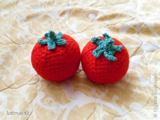Вязаные овощи и фрукты фото 3
