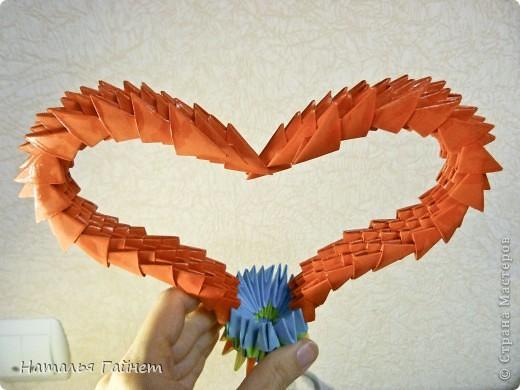 Сердечко из модулей оригами в подарок фото 2