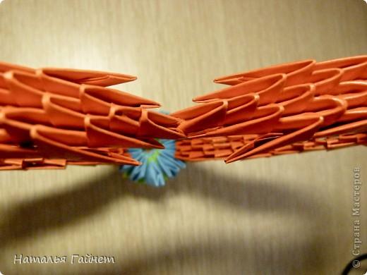Сердечко из модулей оригами в подарок фото 3