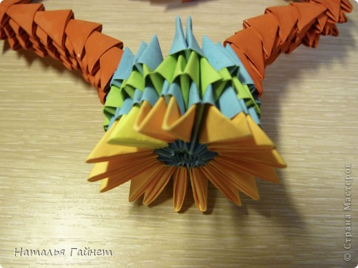 Сердечко из модулей оригами в подарок фото 4