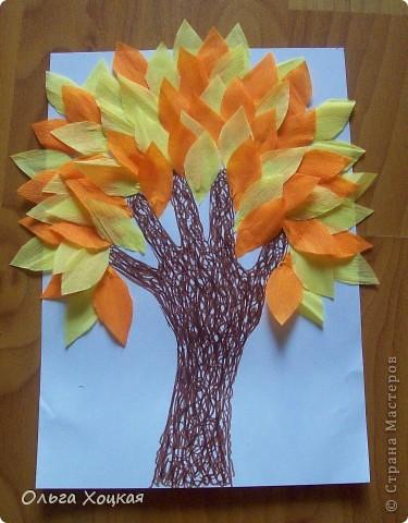 Осеннее дерево для садика.
