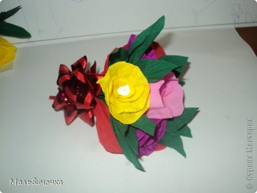 Сделали с сыном такой букетик для учительницы. фото 6