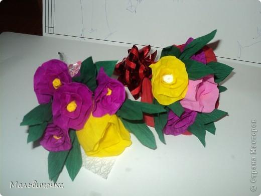 Сделали с сыном такой букетик для учительницы. фото 4