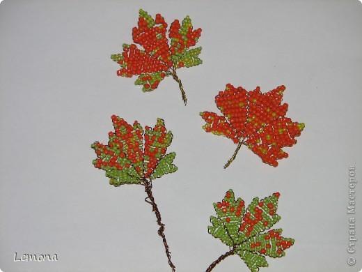 Мастер-класс Праздник осени Бисероплетение Кленовые листья МК Бисер фото 1.