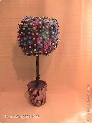 """Чем только не украшали на нашем сайте """"деревья счастья""""! Бумага, ленты, кофе, розы... Теперь дошла очередь до фиалок. фото 11"""