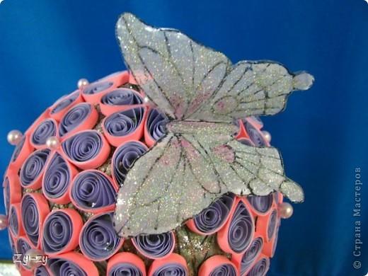 Работая летом в детском лагере мы с подругой-коллегой Настей решили освоить новую для себя технику квиллинг, и сделать цветочное дерево. фото 8