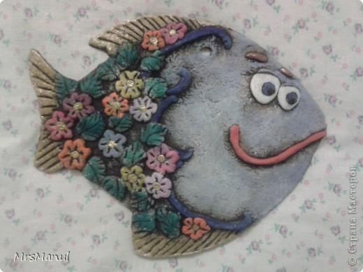 Рыба моя! Спасибо за МК по покраске Елене Поповой http://stranamasterov.ru/node/242146?c=favorite. За ромашки спасибо Ларисе Ивановой stranamasterov.ru/node/75516?c=favorite фото 1