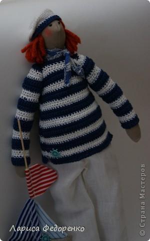 Кукла Тильда морячок фото 3
