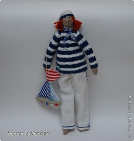 Кукла Тильда морячок фото 1