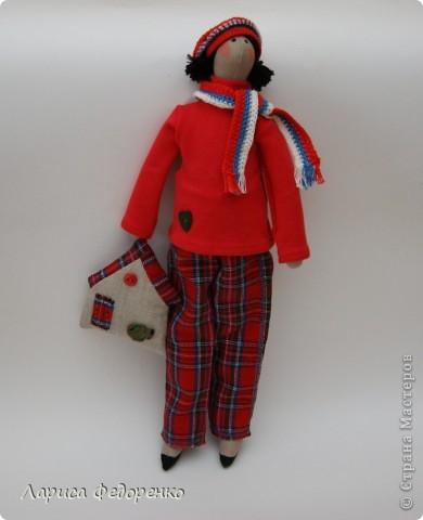Кукла Тильда  мальчик-стиляга фото 3