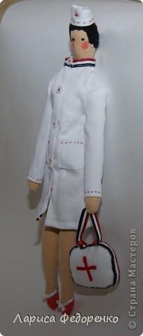 Кукла Тильда врач скорой помощи фото 1