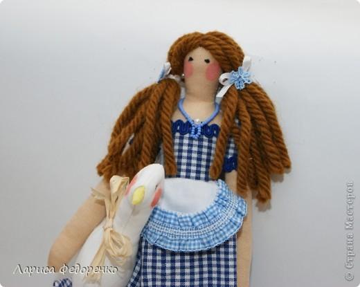 Кукла Тильда хозяюшка  Алина с гусиком  фото 2