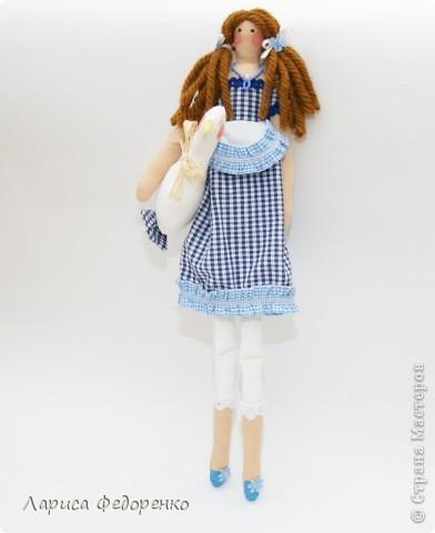 Кукла Тильда хозяюшка  Алина с гусиком  фото 1