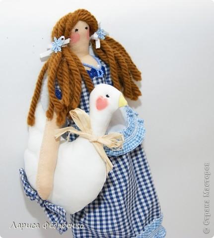 Кукла Тильда хозяюшка  Алина с гусиком  фото 3